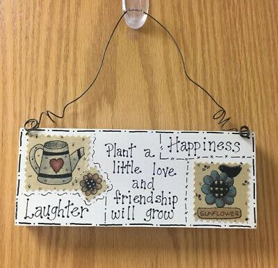 Wooden Sign Hanging Wall Decor Spring