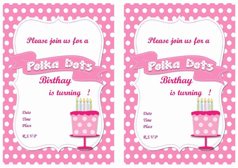 Polka Dots Birthday Invitations | Birthday Party Invitations - FREE ...