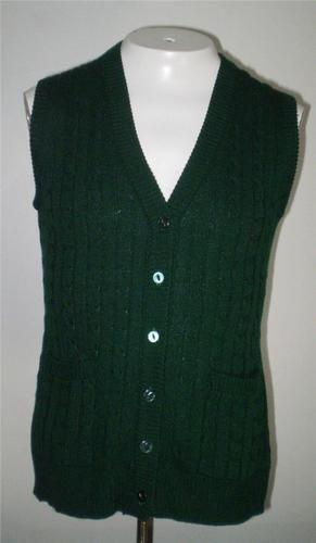 Vintage Green Cable Knit Sweater Vest Medium