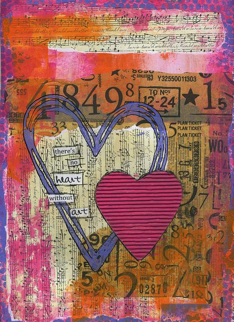 No Heart without Art by strawberryredhead, via Flickr