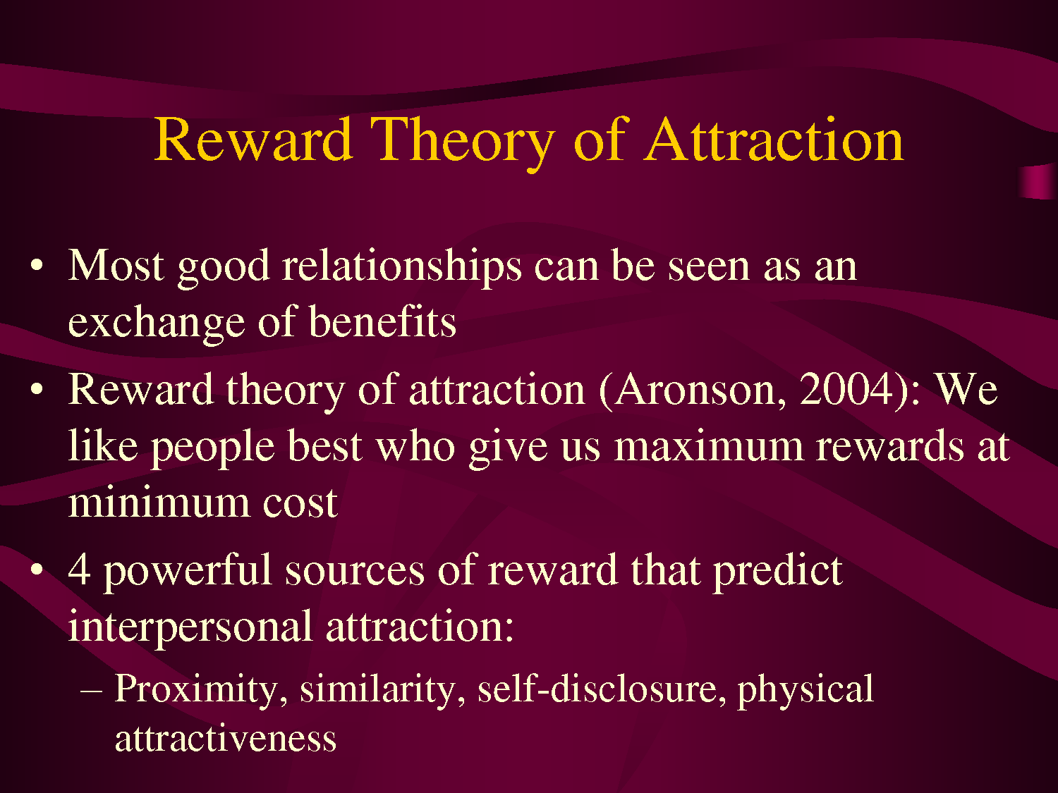 These Are Interesting Point About The Benefit From Interpersonal Attraction Physical Essay Relationship