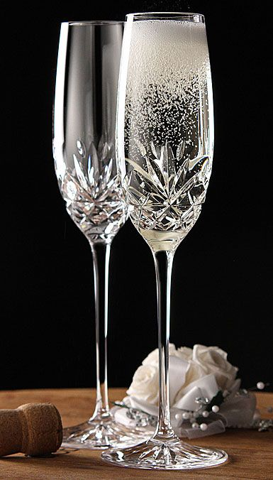 Cashs Annestown Champagne Toasting Flutes Pair