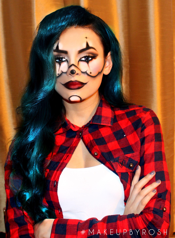 gangster clown halloween makeup inspiredchrisspy #justrosh