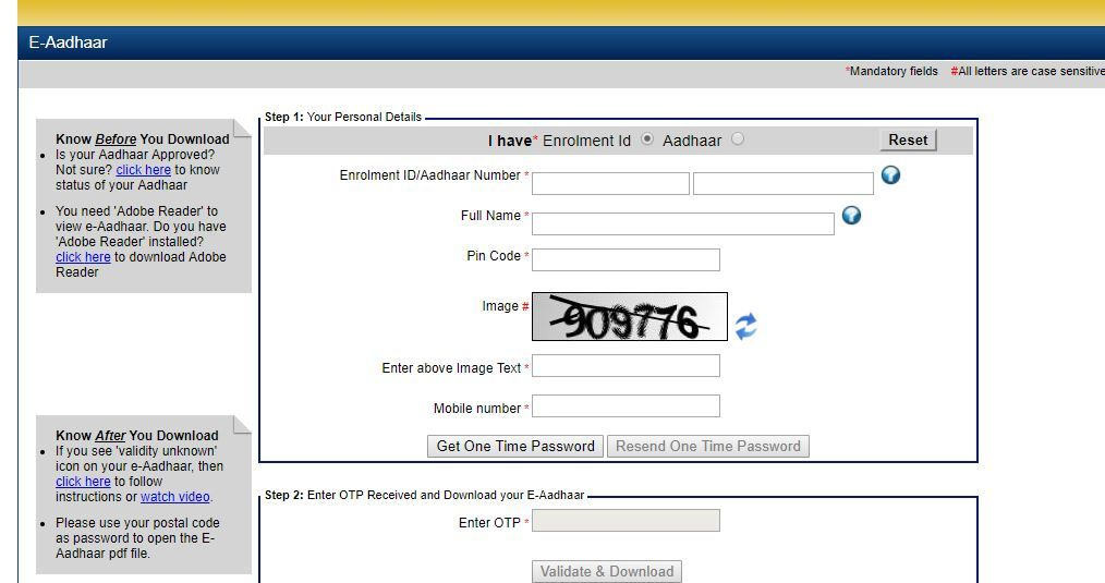 Aadhar Card Download By Name And Date Of Birth Aadhar Card Card Downloads Names