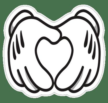 Manos Haciendo Un Corazon Mickey Mouse Png Mickey Mouse Friend Cartoon