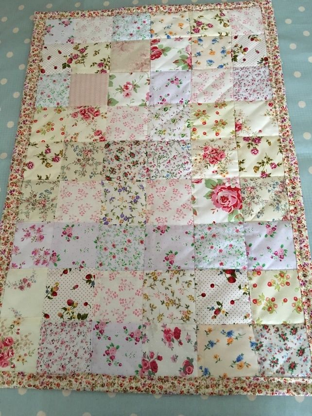 Patchwork Quilt In Shabby Chic Floral Fabrics Baby