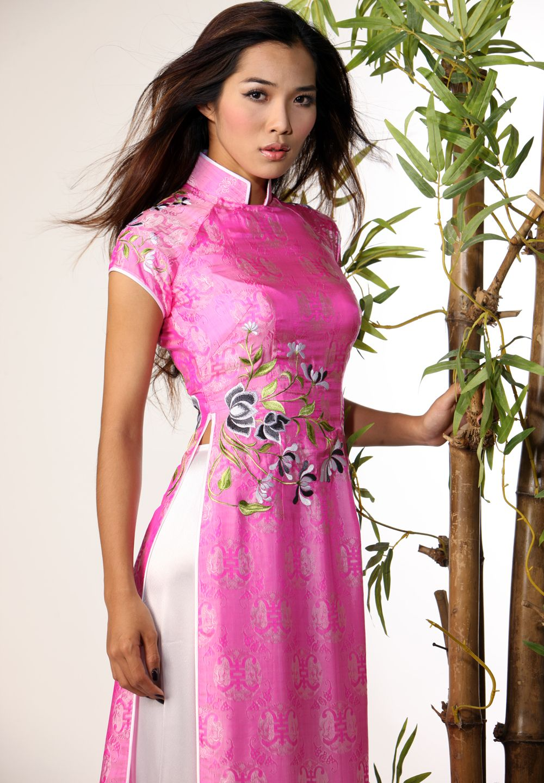 Ao dai | Vietnamese | Pinterest | Vestido oriental, Vestiditos y ...