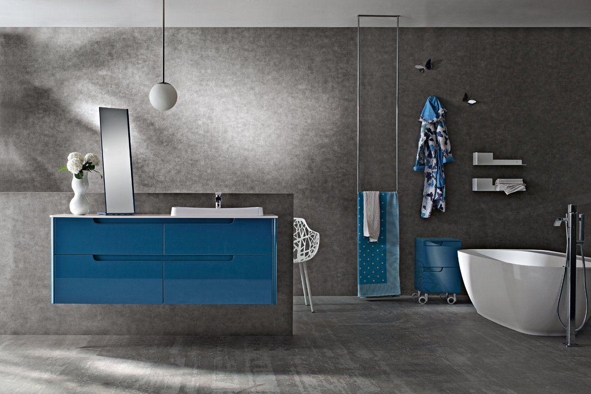 Bagno Ryo con finitura colore lucido Ral 5009 http://www.cerasa.it ...