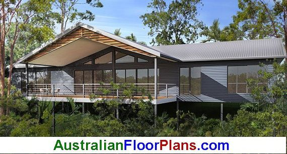 1862 Sq Foot 169m2 2 Bedroom 2 Bathroom Pole Home Etsy House Plans Australia Kit Homes Australia Australian House Plans