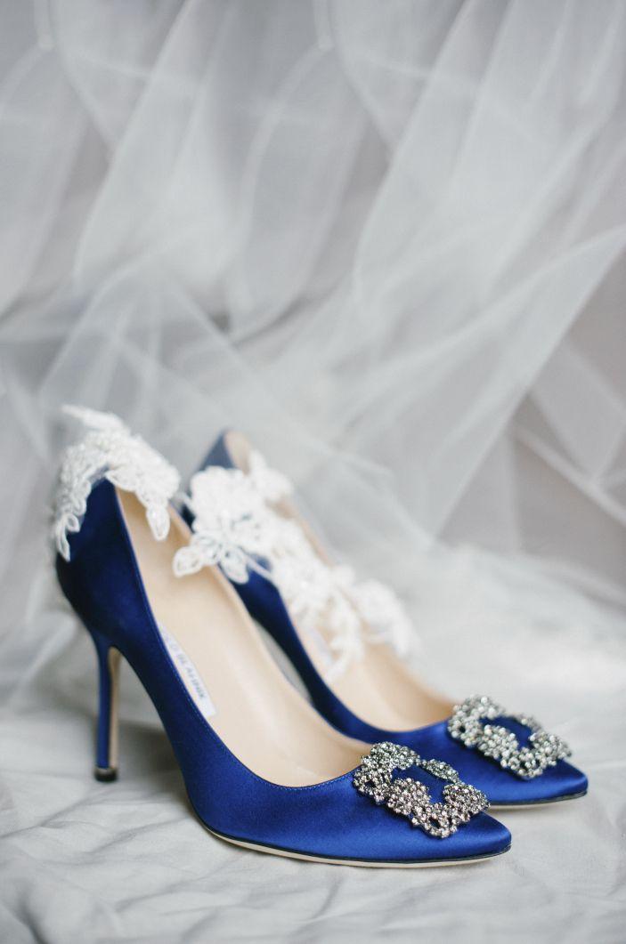 5bcdec1f6c2 Manolo Blahnik something blue wedding shoes photo by  plentytodeclare