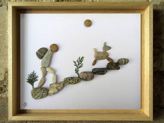 Pebble Art  Gift for Backpacker Gift for Hiker  Animal #greatnames