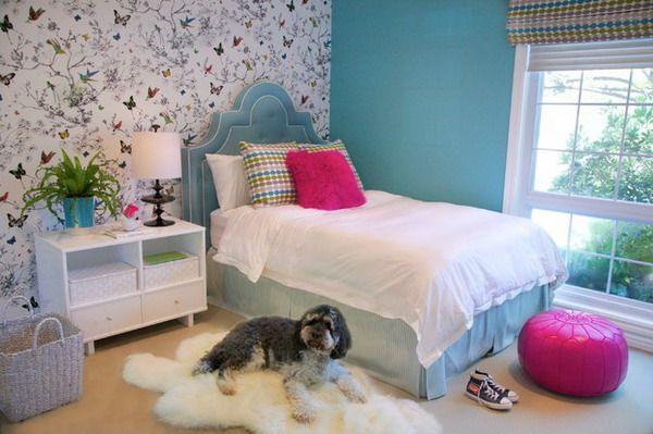 Girls Bedroom With Wallpaper Ideas Wallpaper Selection For Girls Bedroom  Decorating. Addieu0027s Room. Birds