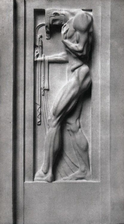Franz Metzner (German, 1870-1919), Kunst, 1907. Relief on the Berlin Weinhaus, Bellevuestrasse.