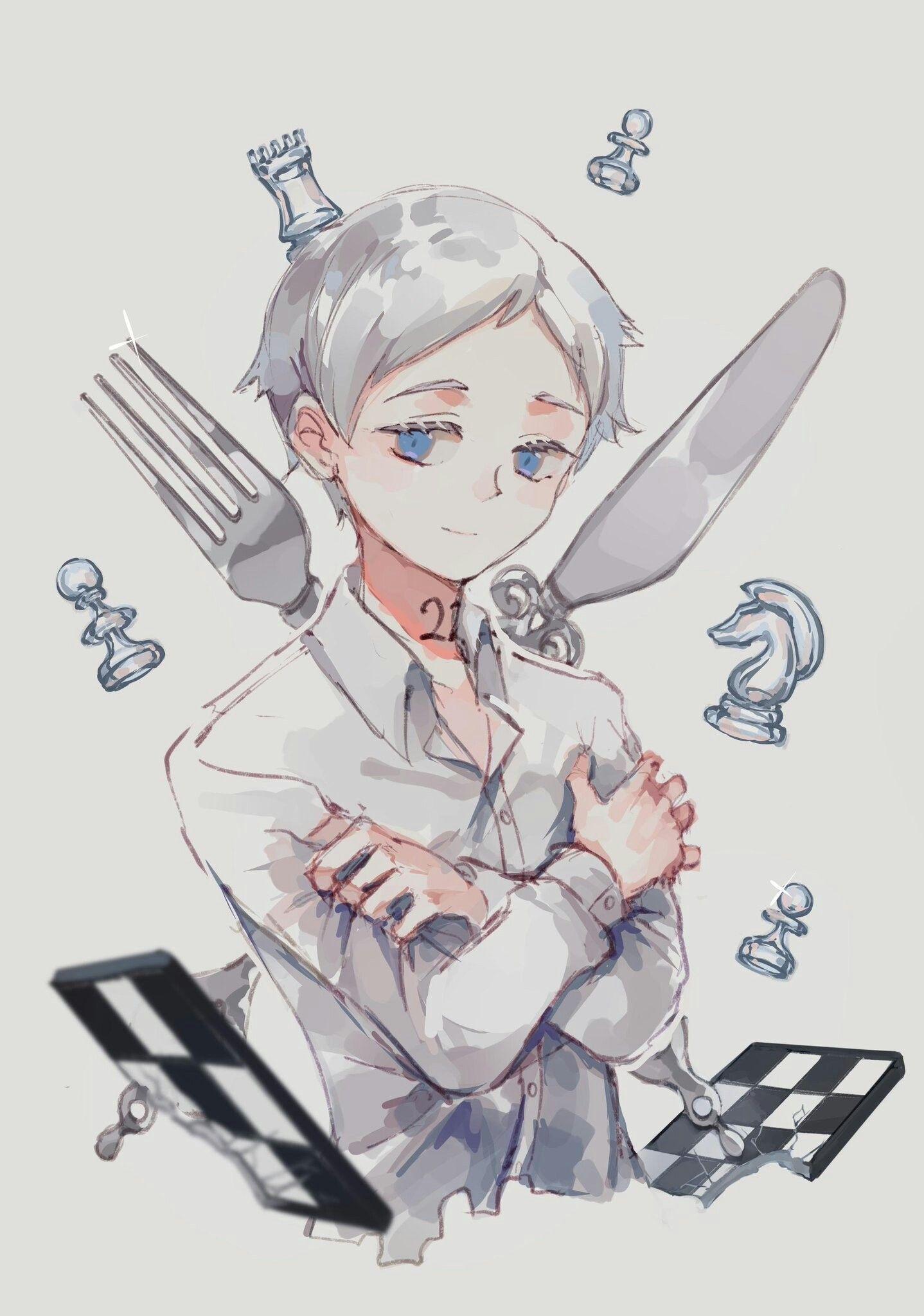 Norman The Promised Neverland Anime, Neverland art