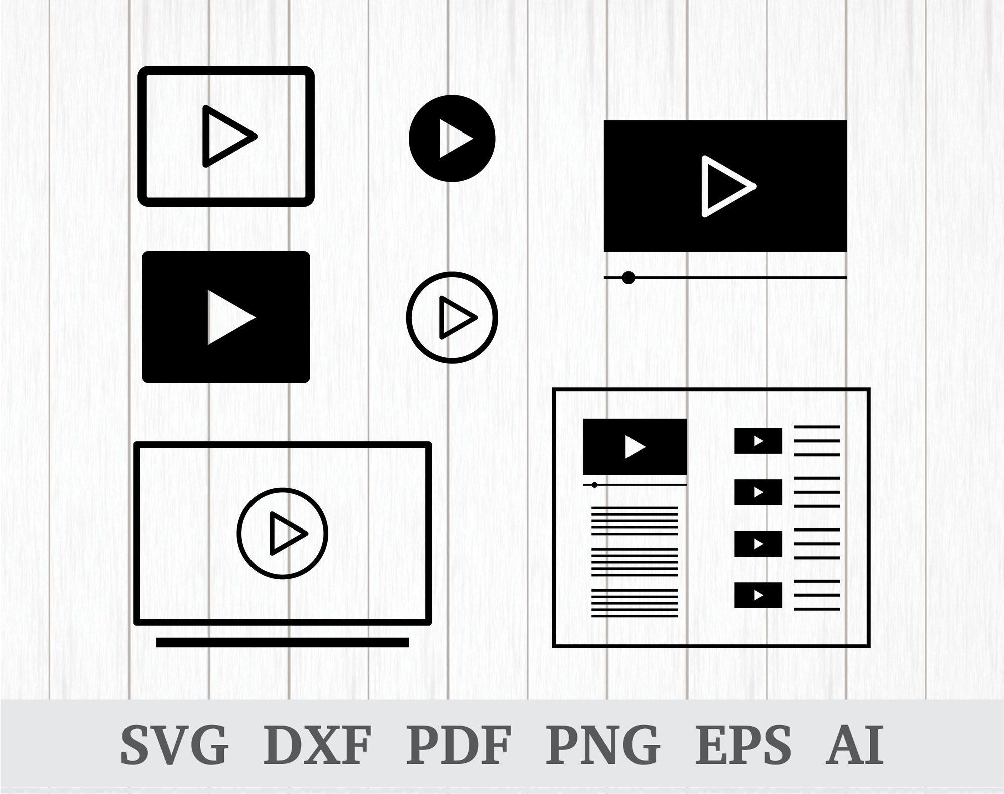 Play Button SVG, Play SVG, Video SVG, Video Player svg, Tv