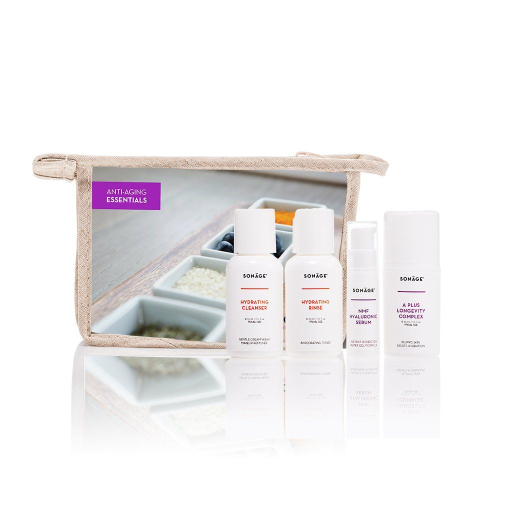 Skin Care Ads: Anti Aging Essentials Travel Kit