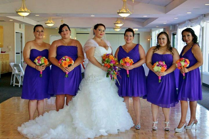1f0cc51ce0f Purple bridesmaids dress