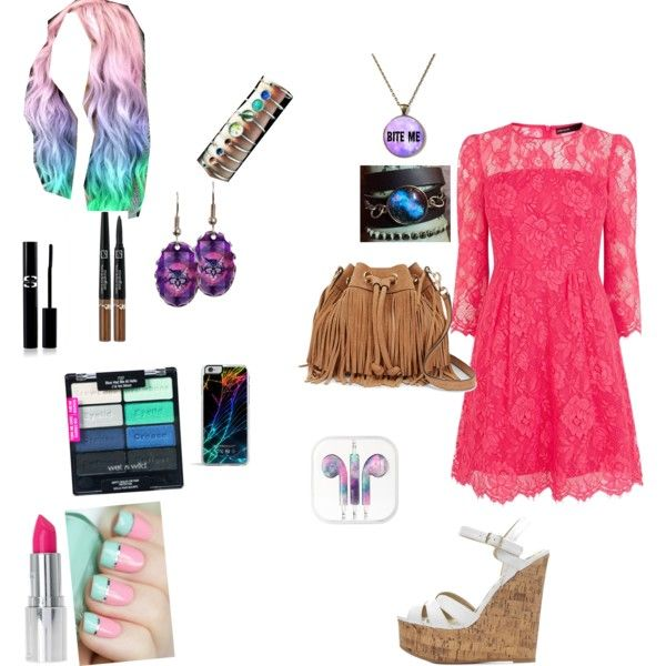 Untitled #199 by makaylajohnson19 on Polyvore featuring polyvore fashion style Karen Millen Charlotte Russe Rebecca Minkoff Forever 21 Sisley Paris Wet n Wild Cotton Candy