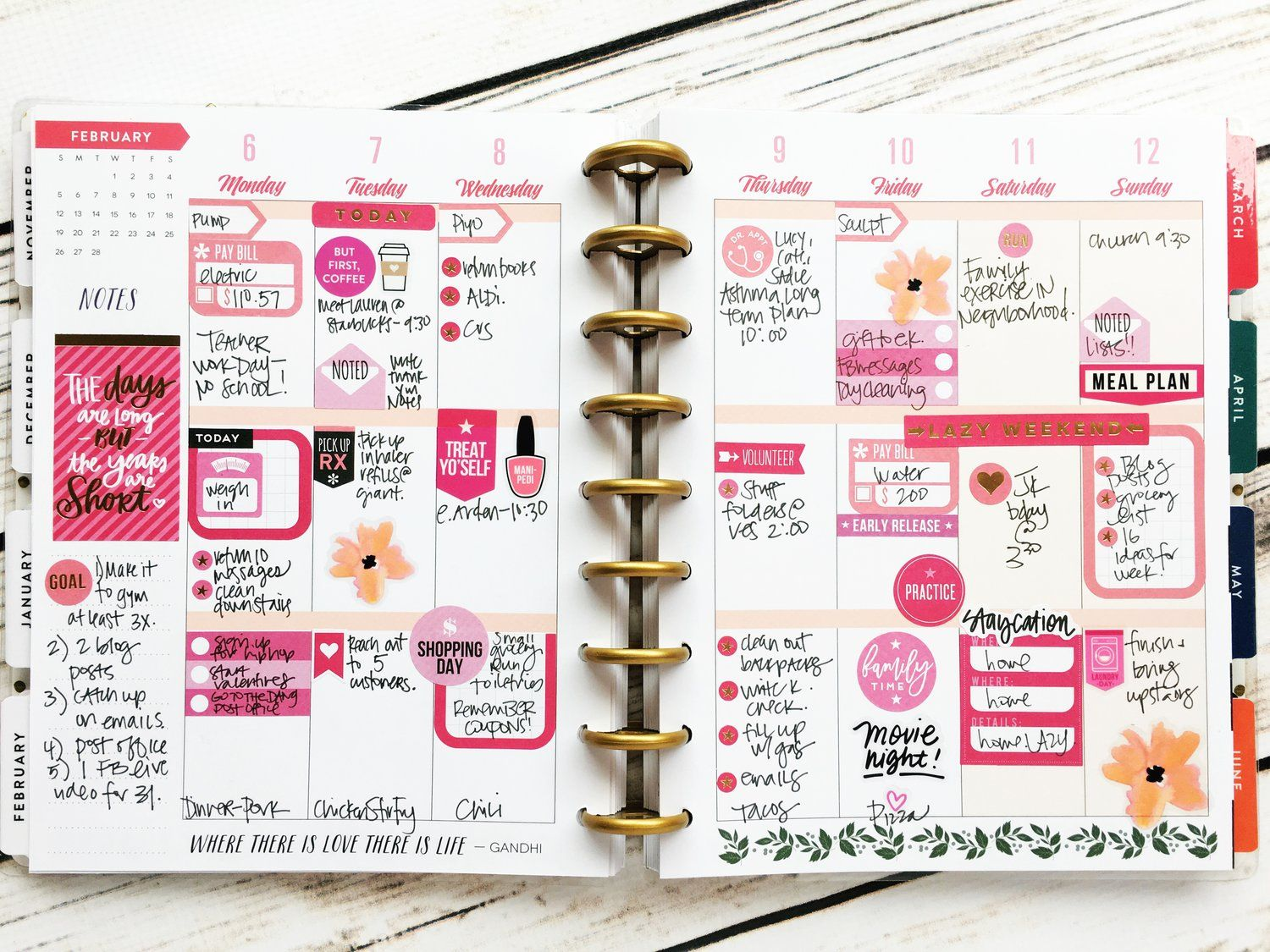 three ways to use 1 sticker value pack on a weekly layout the