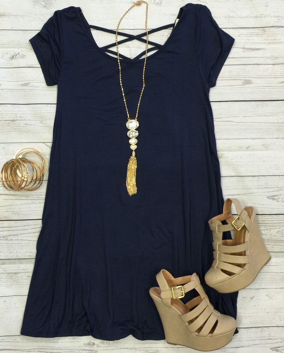 Endless Style Dress SS: Navy