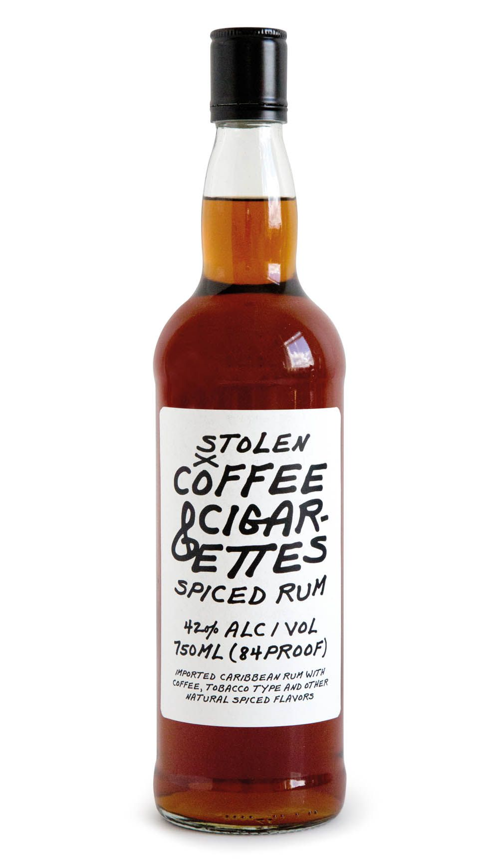 Packaging Design For Stolen Rum S Us Only Product Coffee Cigarettes Which Is A Smoky Coffee Spice Spirits Packaging Design Coffee And Cigarettes Spiced Rum
