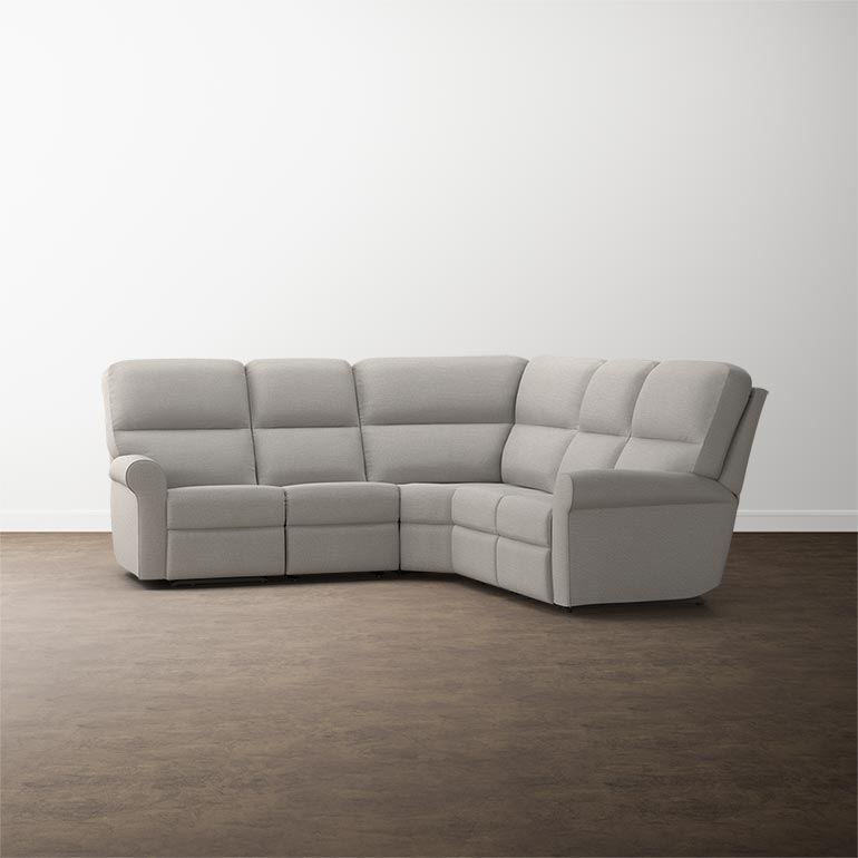 Bedford L Shaped Sectional Sofa Sock Arm In Multiple