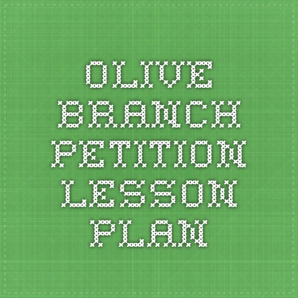 Olive Branch Petition Lesson Plan  Resources For Socratic