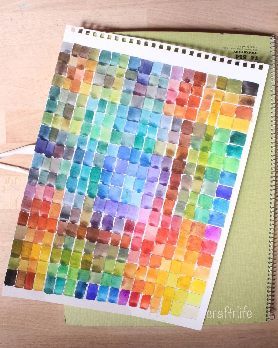 السلام عليكم هذا الاختراع الجميل يسمى جدول دمج الألوان فيه نتيجة خلط كلللللل الألوان مع كل لون من ألوان البالته جداااااا مفيد اصلا