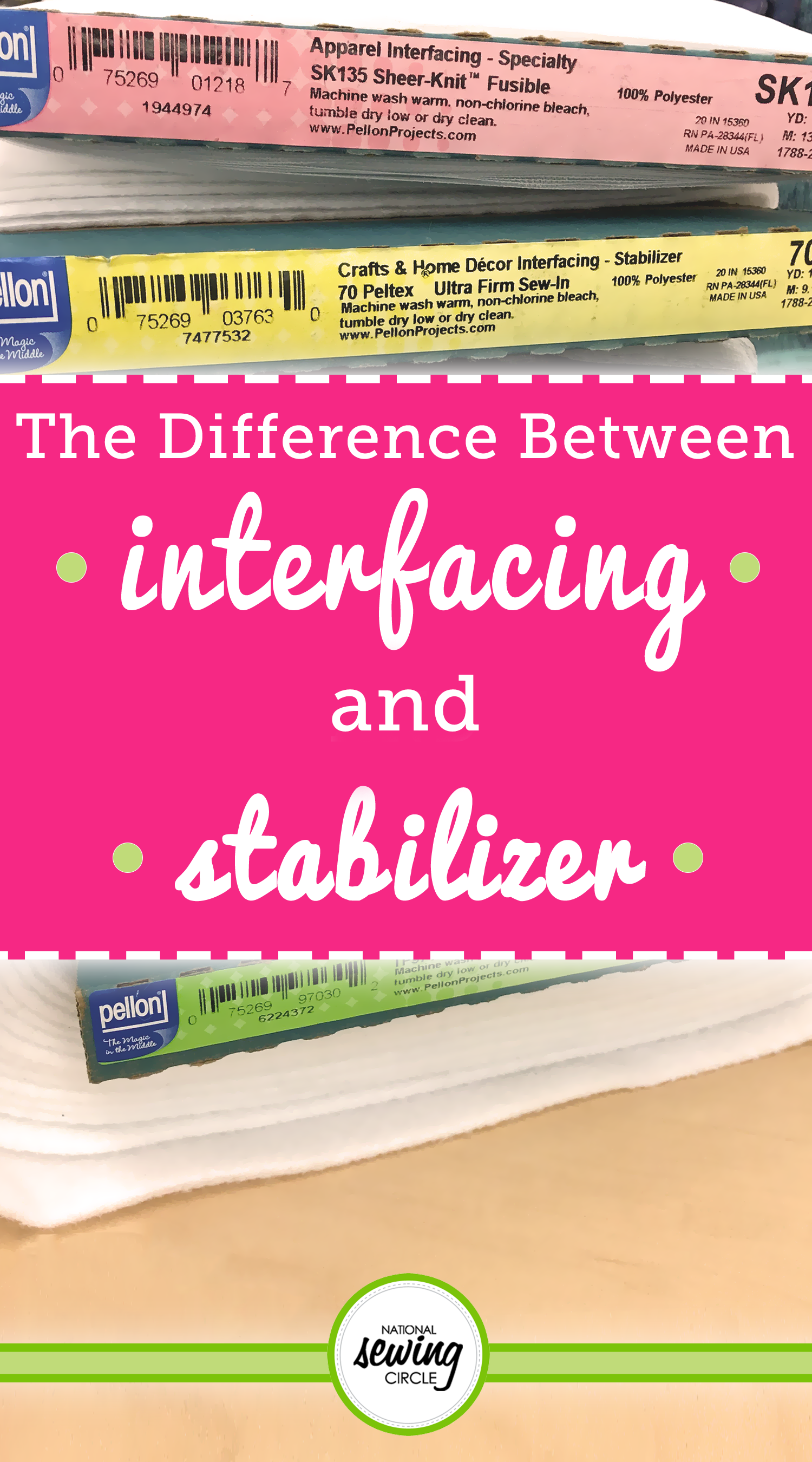 The Difference Between Interfacing And Stabilizer Sewing Hacks Beginner Sewing Projects Easy Sewing Projects For Beginners