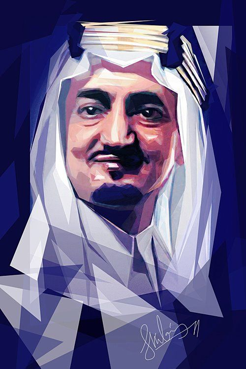 King Faisal King Faisal Arabian Art Graphic Art Prints