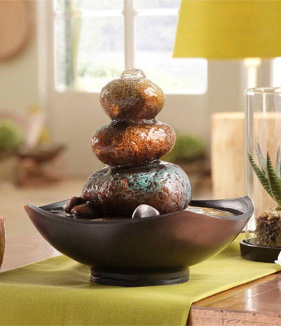 Mit dem zimmerbrunnen von home affaire holen sie sich - Asiatische dekoration ...