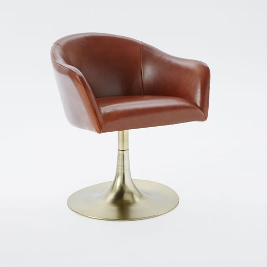 Incroyable Bond Leather Swivel Office Chair | West Elm