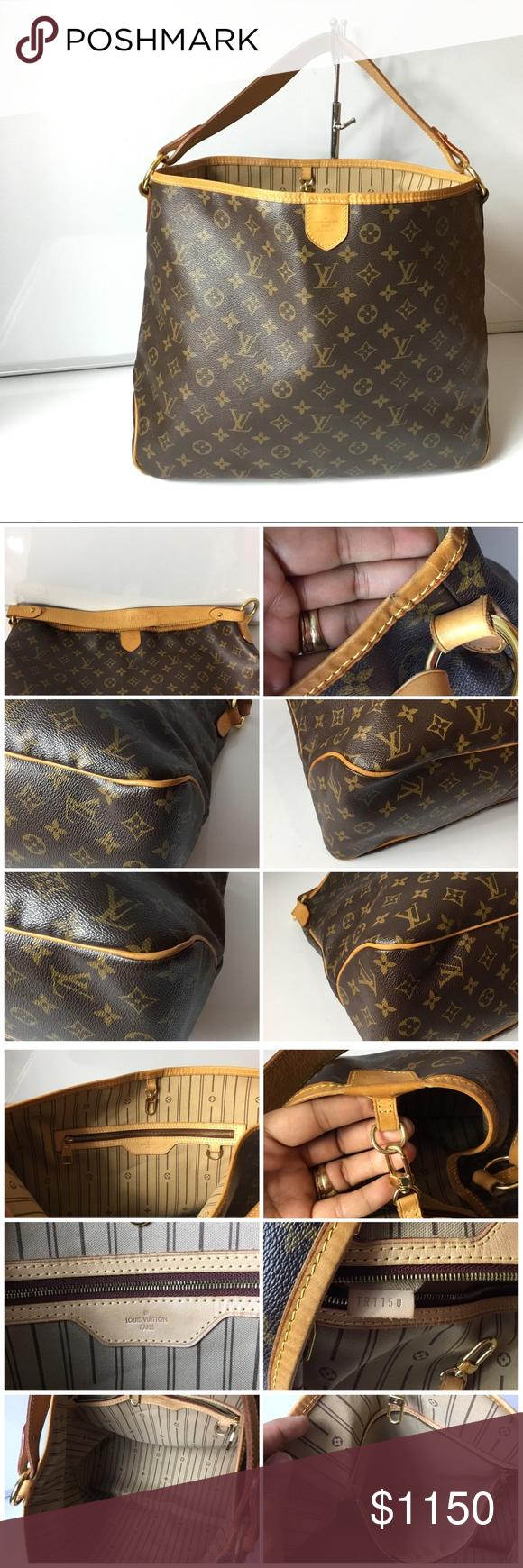 4dd9b0dbd18 100%Authentic Louis Vuitton Delightful MM with Box 100% Authentic Louis  Vuitton Monogram Delightful