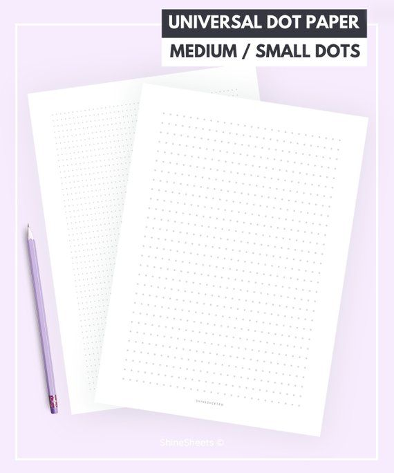 Dot paper / Dot grid paper / Dot grid printable / Dotted paper