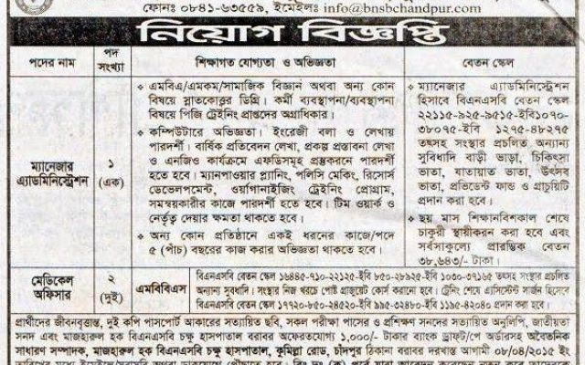 Mazharul Huaq Bnsb Eye Hospital Position Manager Administration