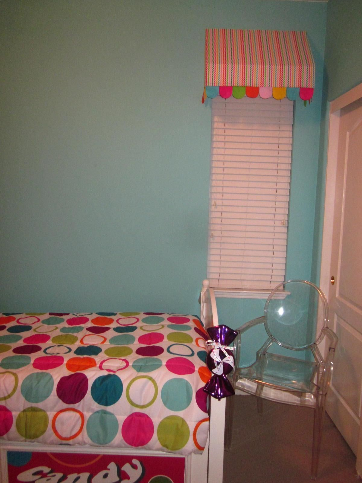 My Daughters Candy Themed Bedroom, Dots Bed