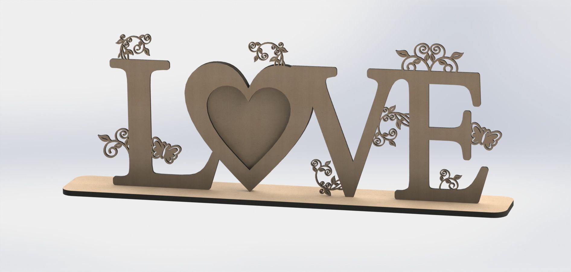 Love Heart Laser Cut DXF File Free Download | Laser cut | Laser