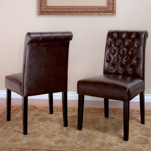 Broxton Bonded Leather Dining Chair 2 Pack