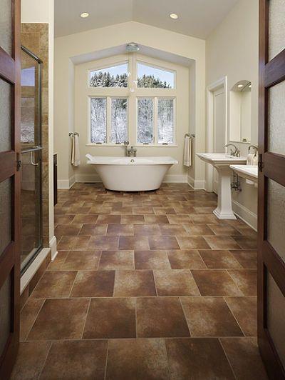 Wood Tile Floor Bathroom Bathrooms The Crown Jewel Of