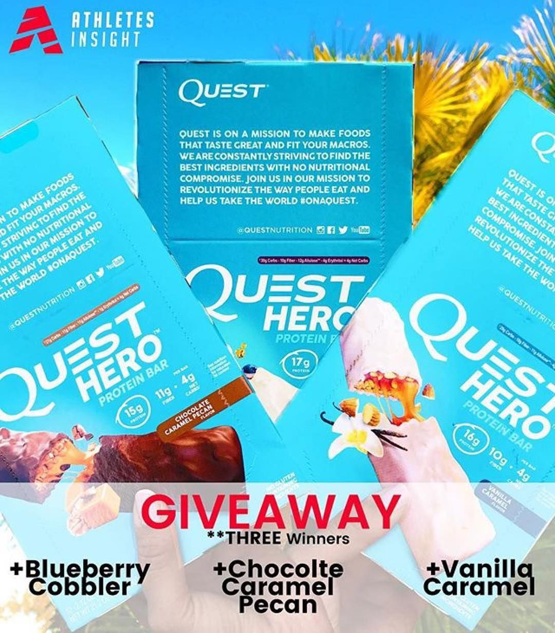 QUEST GIVEAWAY ENDS TOMORROW 3 LUCKY WINNERS Here's how to
