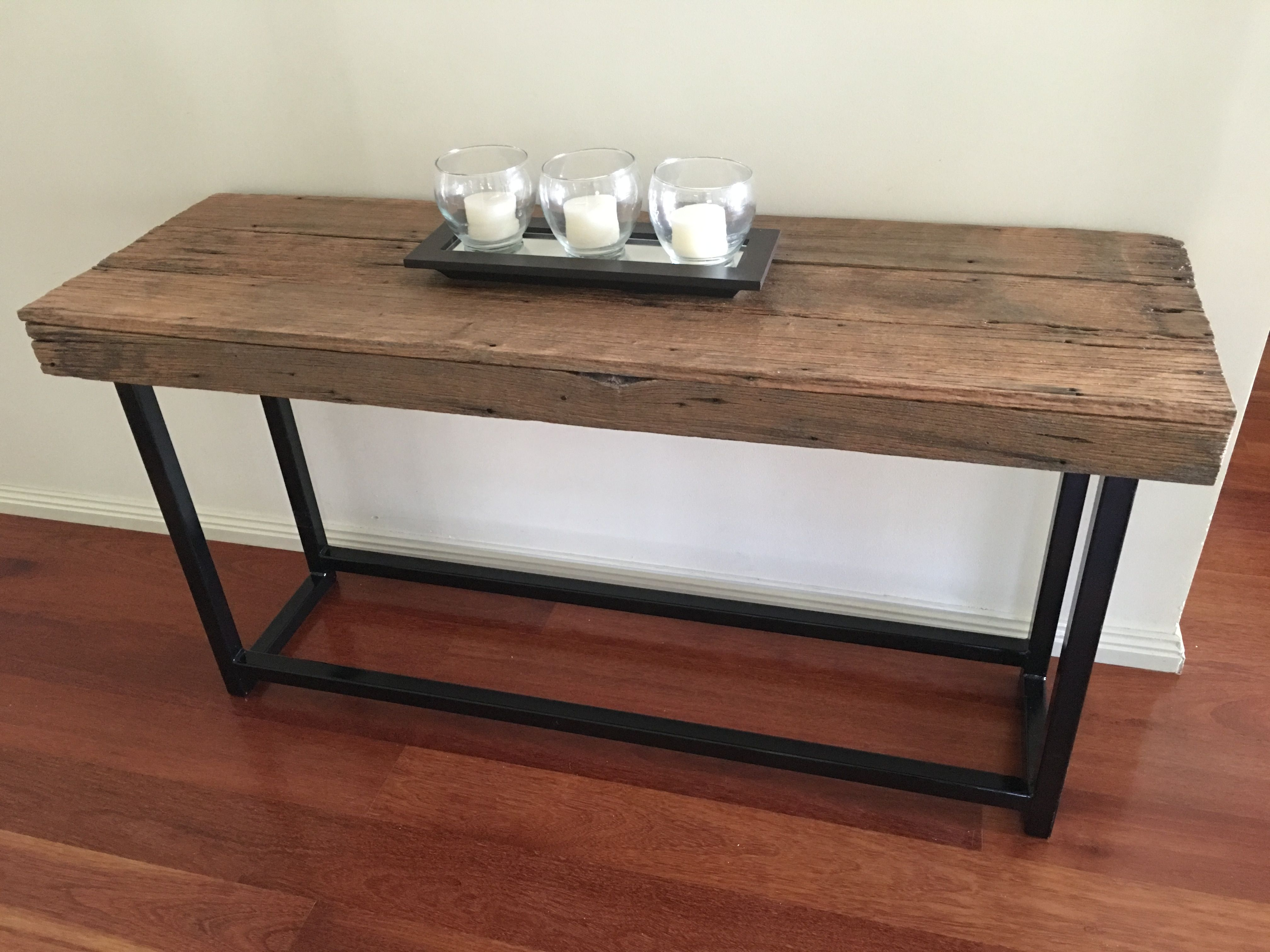 Recycled Hardwood Industrial Hall Console Made By Recycledtimberfurnitureozcom