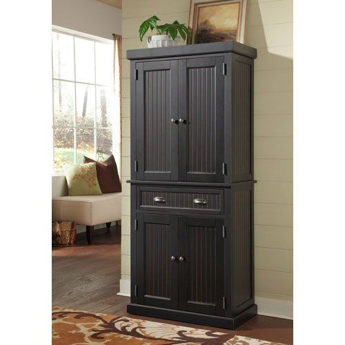 Amazon.com: Home Styles 5033-69 Nantucket Pantry, Distressed Black Finish: Home & Kitchen