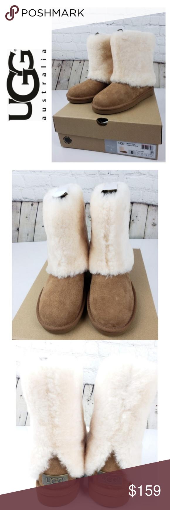 752a276de5 UGG Boots Chestnut Sheepskin Cuff Boot Size 6 NWT Brand New with Box Women's  Uggs Australia