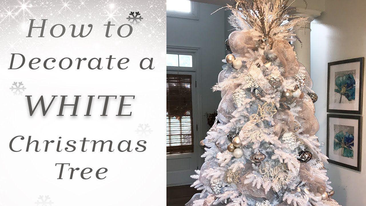 How to Decorate a White Christmas Tree - YouTube | white Christmas
