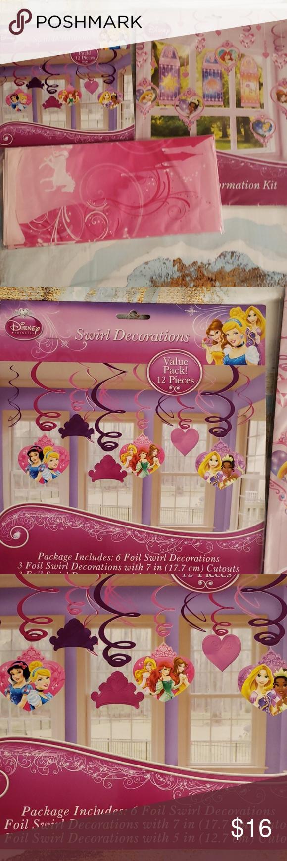 4 Pc Disney Princess Party Decorations Princess Party Decorations Disney Princess Party Disney Princess Party Decorations