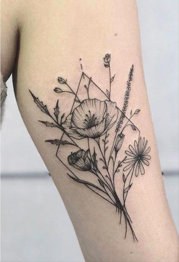 42 Creative Flower Tattoo Designs For Arms The First Hand Fashion News For Females In 2020 Flower Tattoo Arm Vintage Flower Tattoo Flower Tattoo Shoulder