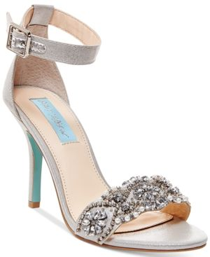 05758ade922 Blue By Betsey Johnson Gina Embellished Evening Sandals - Silver 11M