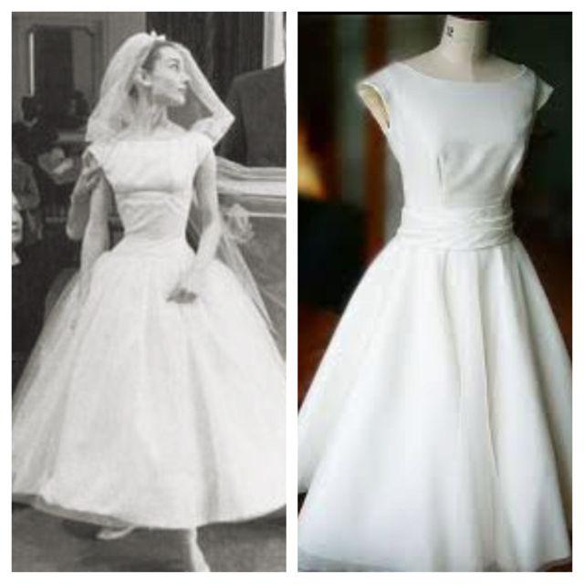 Audrey Hepburn inspired wedding dress?? Good idea megan ...
