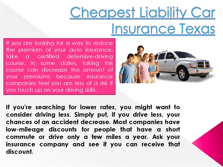 Cheapest liability car insurance texas Car insurance
