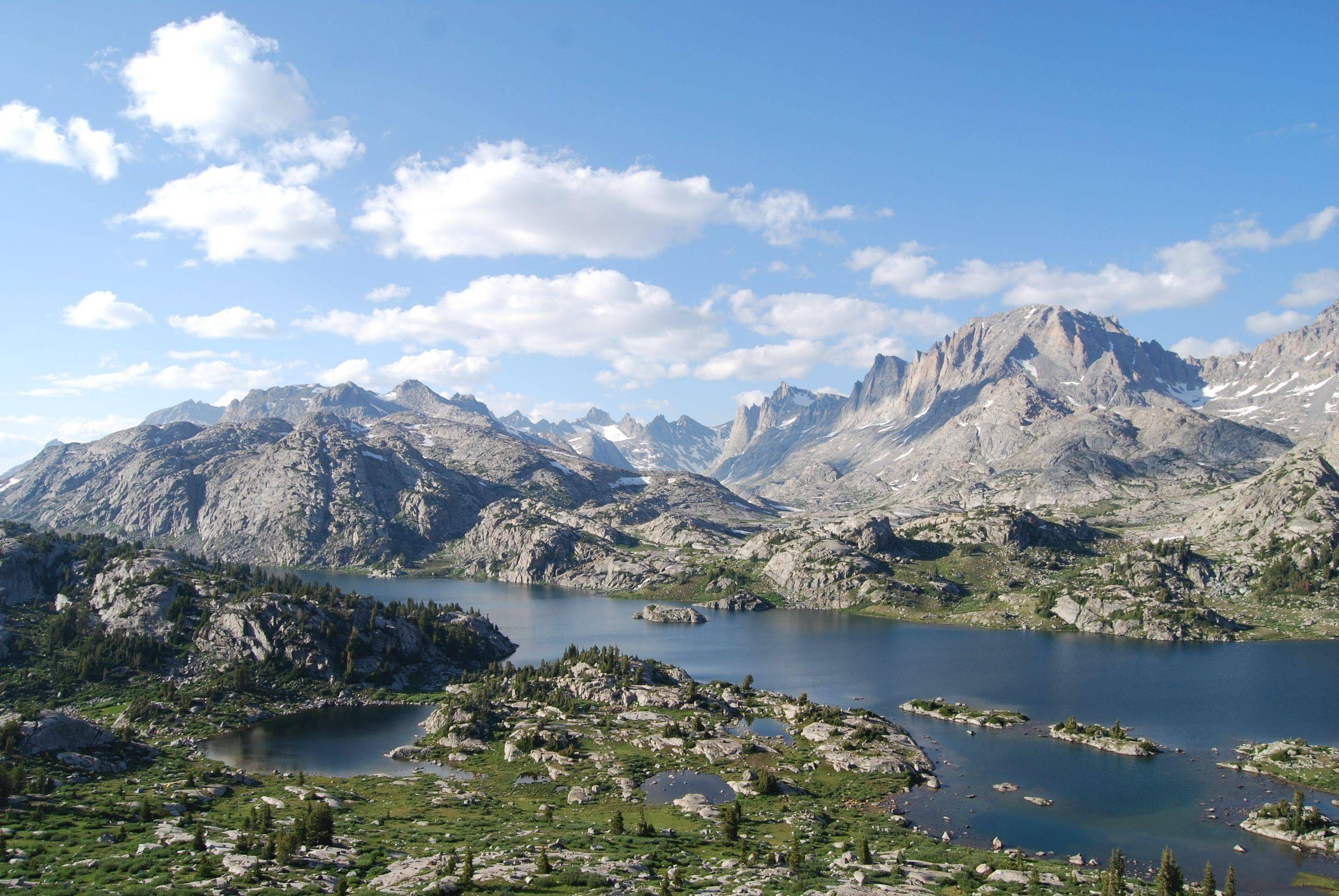 Island Lake Wind River Range Wyoming U S